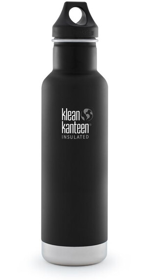 Klean Kanteen Classic Vacuum Insulated 20oz (591 ml) Matte Finish Shale Black